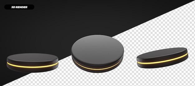3d render palco podio giallo isolato per composizione