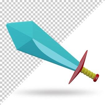 Cartone animato di spada 3d reso