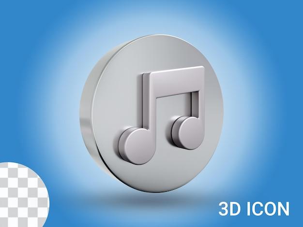 Design dell'icona della musica con rendering 3d