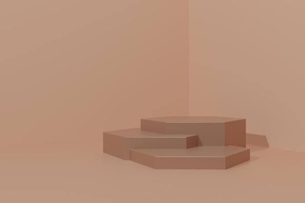 3d ha reso lo sfondo della scena del podio per la pubblicità del prodotto