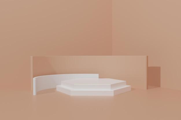 3d ha reso lo sfondo della scena del podio per la visualizzazione del prodotto