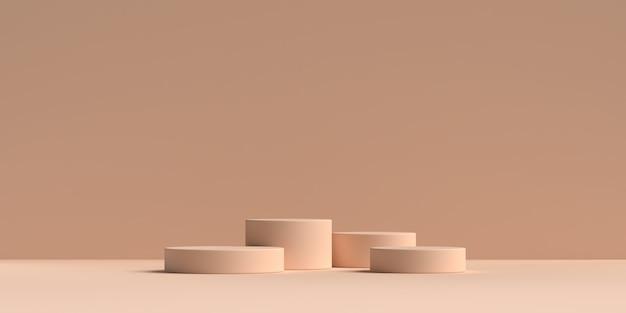 Rendering 3d del podio di forma geometria scena astratta