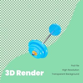 3d rendering icona del bilanciere