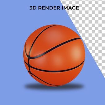 Rendering 3d di basket premium psd