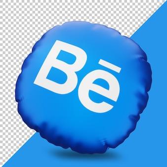 Icona di behance di rendering 3d