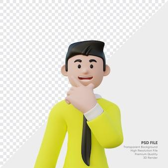 Rendering 3d di uomo d'affari sorridente