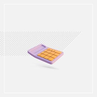 Pulsante dorato modello calcolatrice rendering 3d