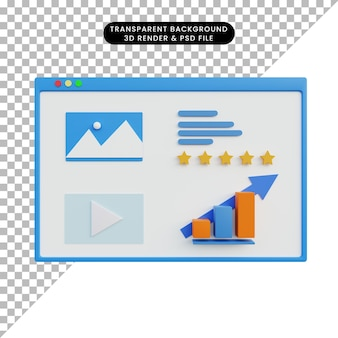 Rendering 3d di analitica dei dati