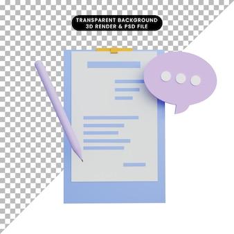Report dei dati di rendering 3d