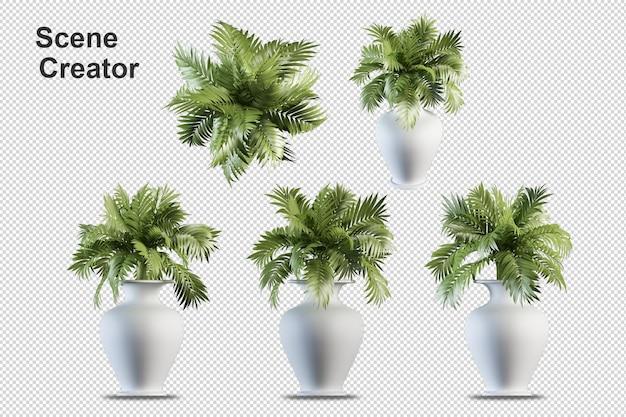Rendering 3d di disposizione albero decorativo