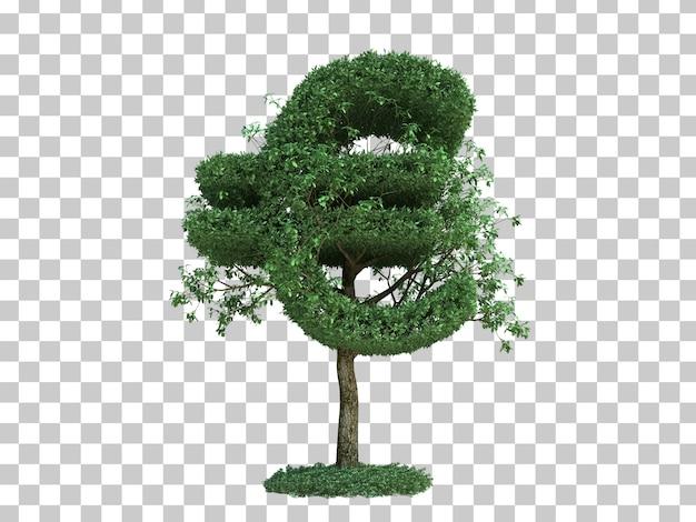 Rappresentazione 3d dell'albero euro di simbolo dei soldi