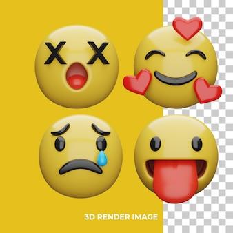 Rendering 3d dell'espressione emoji