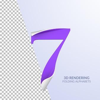 Rendering 3d di lettere piegate