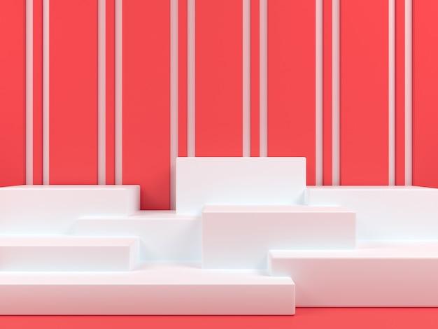 Rendering 3d del modello di visualizzazione del podio di forma geometrica