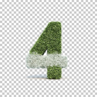Rappresentazione 3d del campo da giuoco numero 4 dell'erba