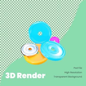 Illustrazione dei piatti della palestra del rendering 3d