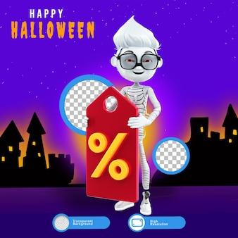Rendering 3d di personaggi di halloween