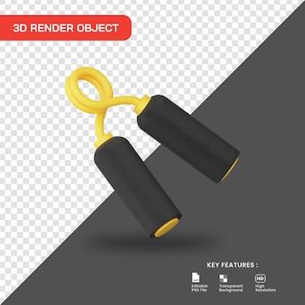 3d rendering icona della pinza della mano