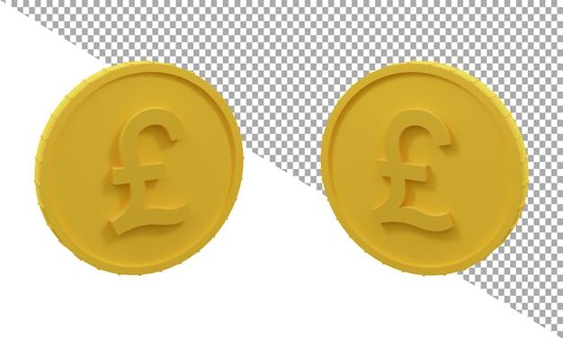 3d rendering icona libbre moneta