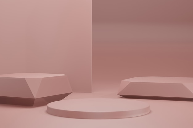 3d rendering illustrazione fase di visualizzazione sfondo mockup