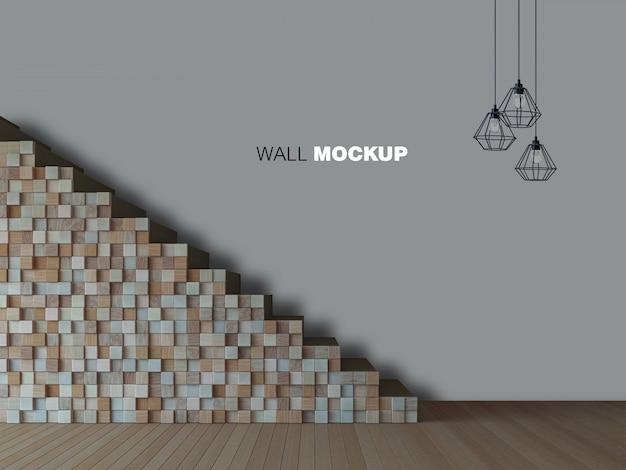 Immagine della rappresentazione 3d del salone di interior design