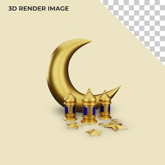 Rendering 3d della decorazione islamica