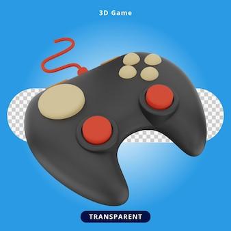 Illustrazione del gioco del joystick di rendering 3d