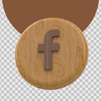 Rendering 3d del logo di facebook