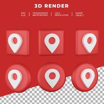 Logo di rendering 3d isolato