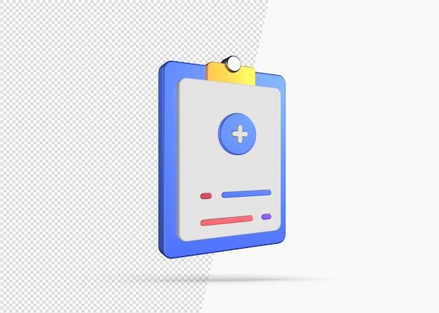 Icona isolata di relazione medica di rendering 3d