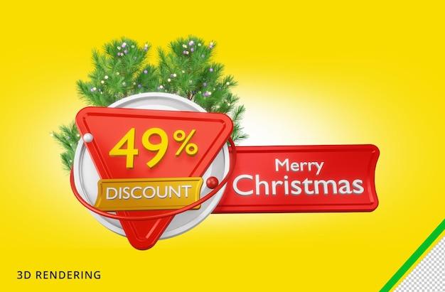 3d rendering buon natale 49 vendita psd premium