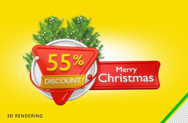 3d rendering buon natale 55 vendita psd premium