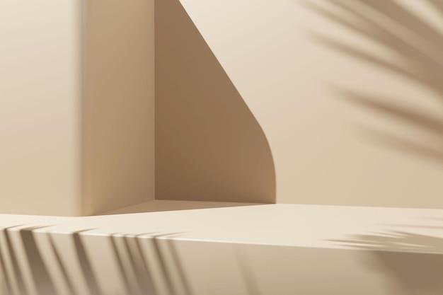 Podio minimalista di rendering 3d per l'inserimento di prodotti