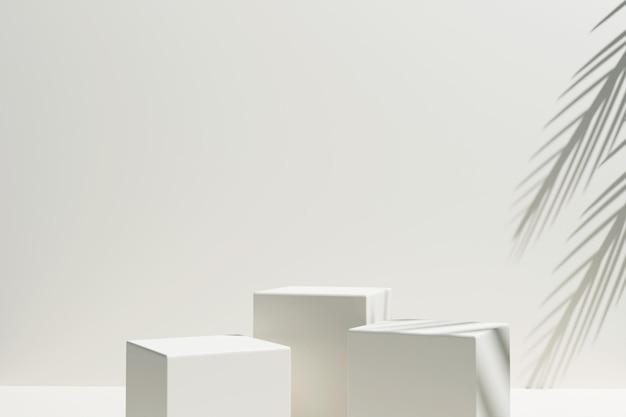 Podio minimalista di rendering 3d