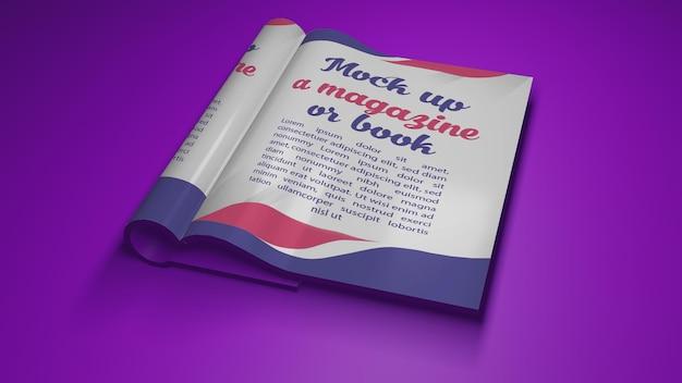 Rendering 3d per mockup libro aperto