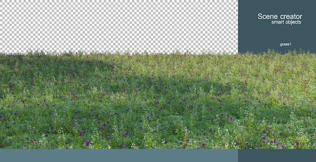 Rendering 3d del rendering di paesaggi naturali