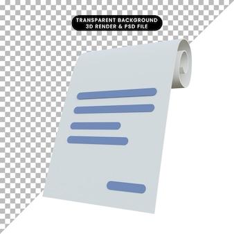 Nota di rendering 3d
