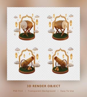 Concetto di oggetto di rendering 3d