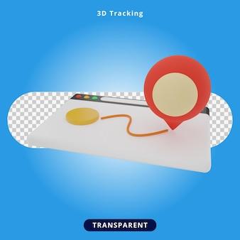 Rendering 3d illustrazione di monitoraggio online