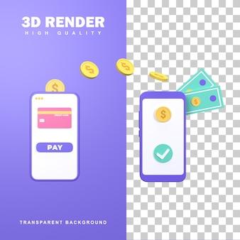Rendering 3d trasferimento online per facilitare le transazioni finanziarie.