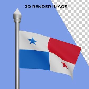Rendering 3d del concetto di bandiera panama giornata nazionale panama