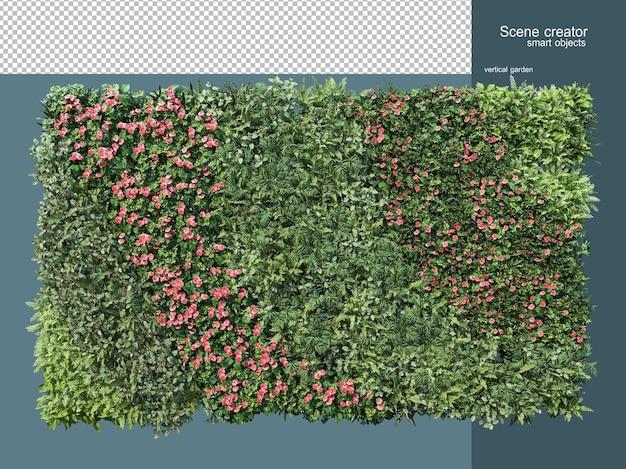 Rendering 3d del recinto di piante isolato