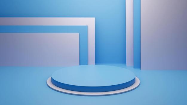 Podio di rendering 3d per l'inserimento di prodotti