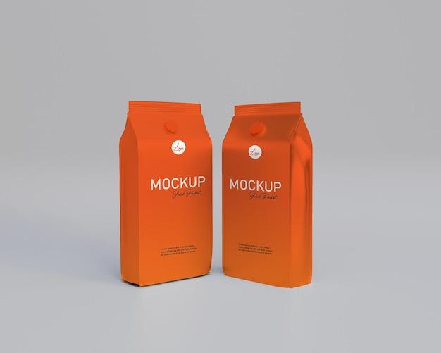3d che rende realistico il pacchetto di succo di frutta mockup