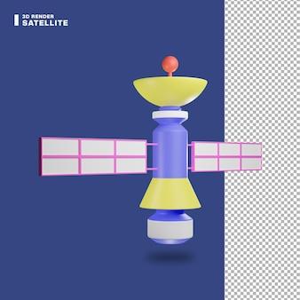 3d rendering icona satellitare