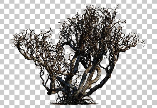Rappresentazione 3d dell'albero di morte spaventoso