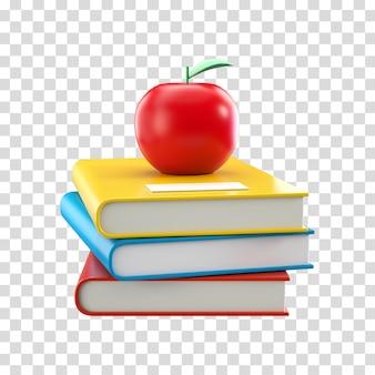 Libri scolastici di rendering 3d