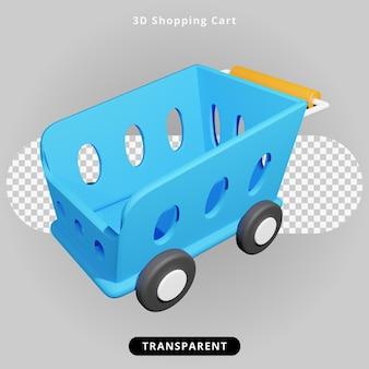Illustrazione del carrello della spesa di rendering 3d