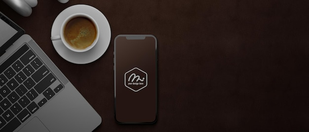 Rendering 3d del mockup di smartphone