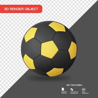 3d rendering icona del pallone da calcio